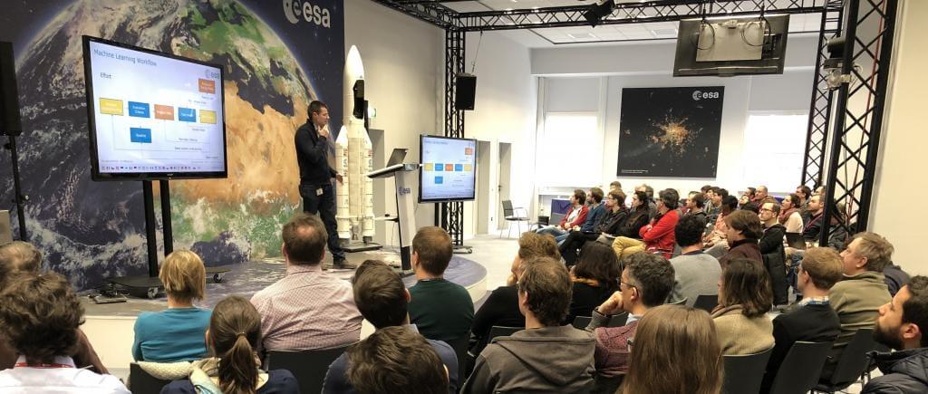 Jose Martinez Heras en la Agencia Espacial Europea