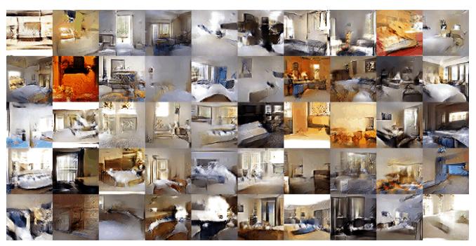 Imágenes de dormitorios creadas con redes neuronales generativas adversarias