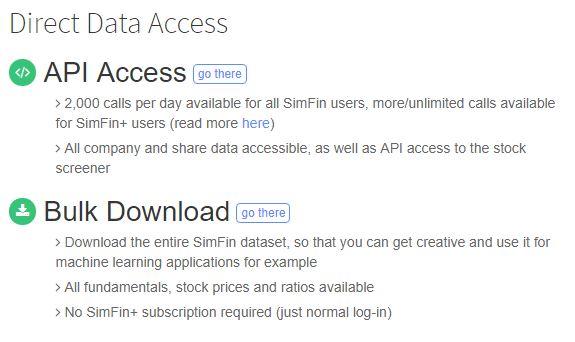 SimFin: Acceso a Datos